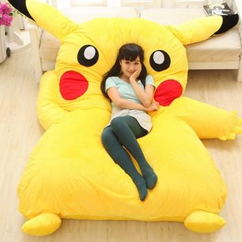Детская мягкая кровать матрас Пикачу