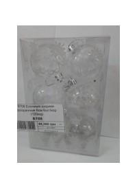 8708 Елочные шарики прозрачные 6см 6шт/кор