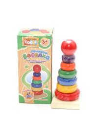 Деревянная игрушка Пирамидка MD 0066 U/R (180шт) 1