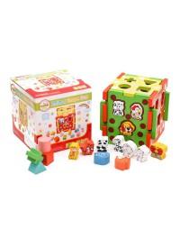 Деревянная игрушка Сортер MD 1244  куб 15см
