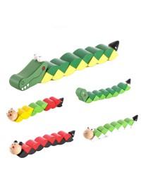 Деревянная игрушка Змейка MD 1194 (200шт) 4вида, в
